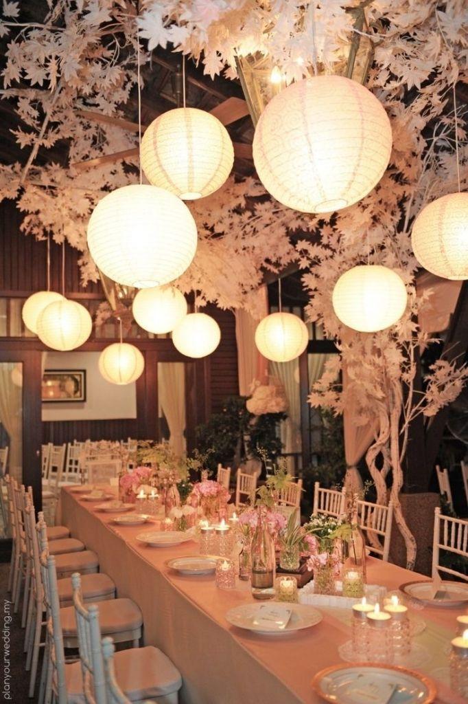 New Year S Eve Wedding Party Decoration Idea Using Paper Lanterns