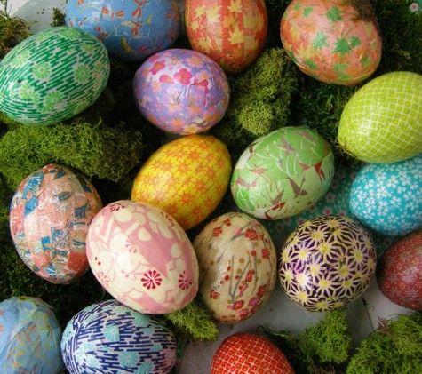 origami easter eggs