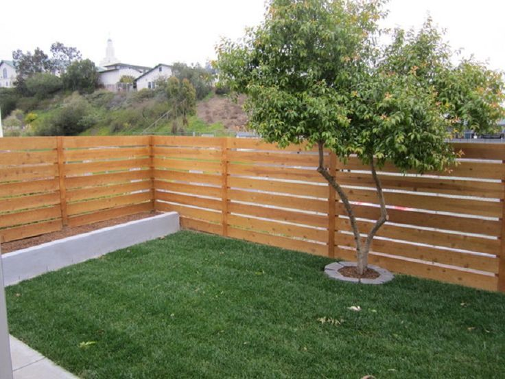 Horizontal Wooden Fence Google Search Privacy Fence Designs