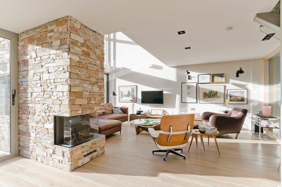 Wohnzimmer Ideen Mit Natursteinen Steinwand Wohnzimmer, Dekorative Wände,  Möbel Sofa, Sessel, Natursteine