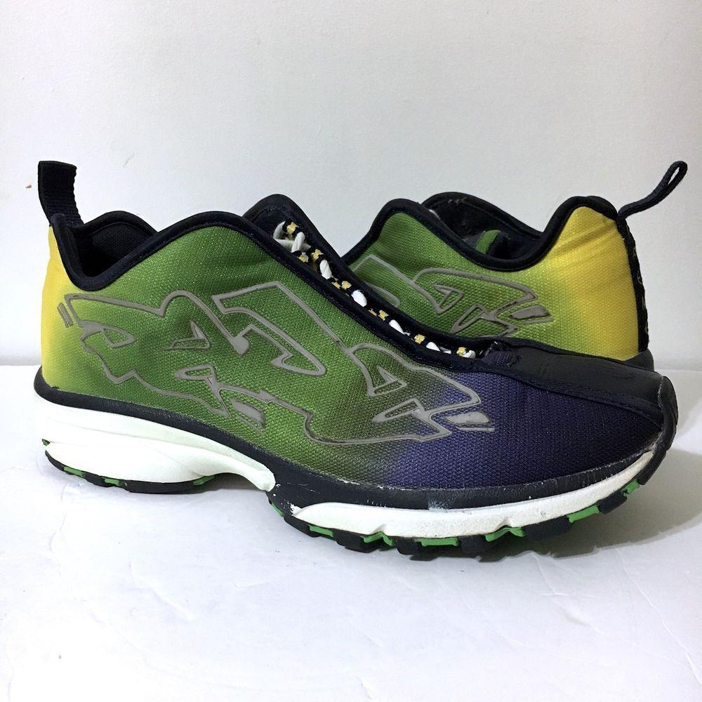 3c196c1c48 Gently Used DADA SUPREME Graffiti Men's Shoes Green Yellow Blue Sz 12. Rare  & Unique. | eBay!