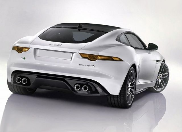 2017 Jaguar F Type R Coupe Rear View