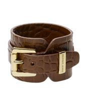 Y169x Michael Kors Leather Cuff Brown