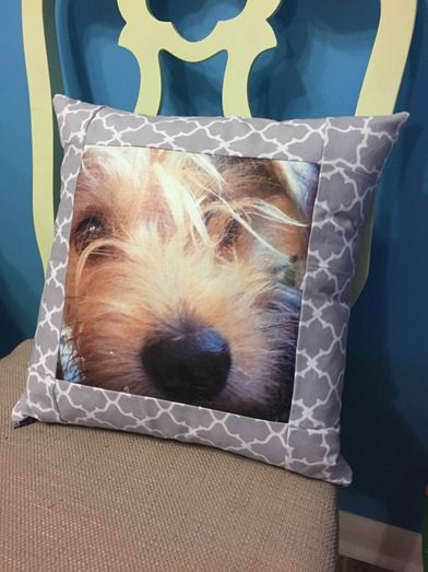 Pillow Cover with Pet Photo how to