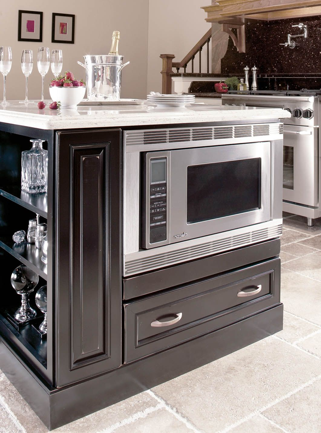 Masterpiece Base Microwave Cabinet With Drawer Kitchen