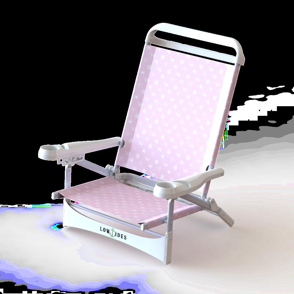Sandbar In Summertime Pink Lowtides Ocean Products Low Beach Chairs Beach Chairs Folding Beach Chair