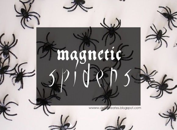 Make Magnetic Spiders - Math School Ideas - Fall Pinterest - spiders for halloween decorations