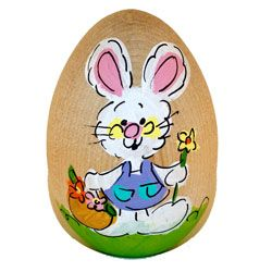 Girl bunny hand painted wooden easter egg easter pinterest girl bunny hand painted wooden easter egg easter gift basketseaster negle Image collections