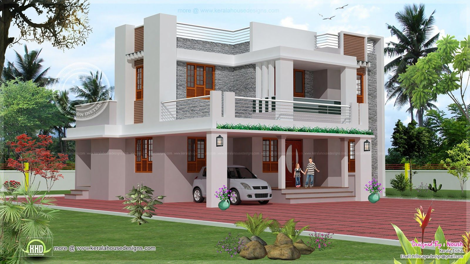 Astounding Bedroom 2 Story House Exterior Design Kerala 2 Storey Largest Home Design Picture Inspirations Pitcheantrous