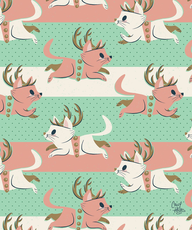 Candy Cane Reindeer On Behance