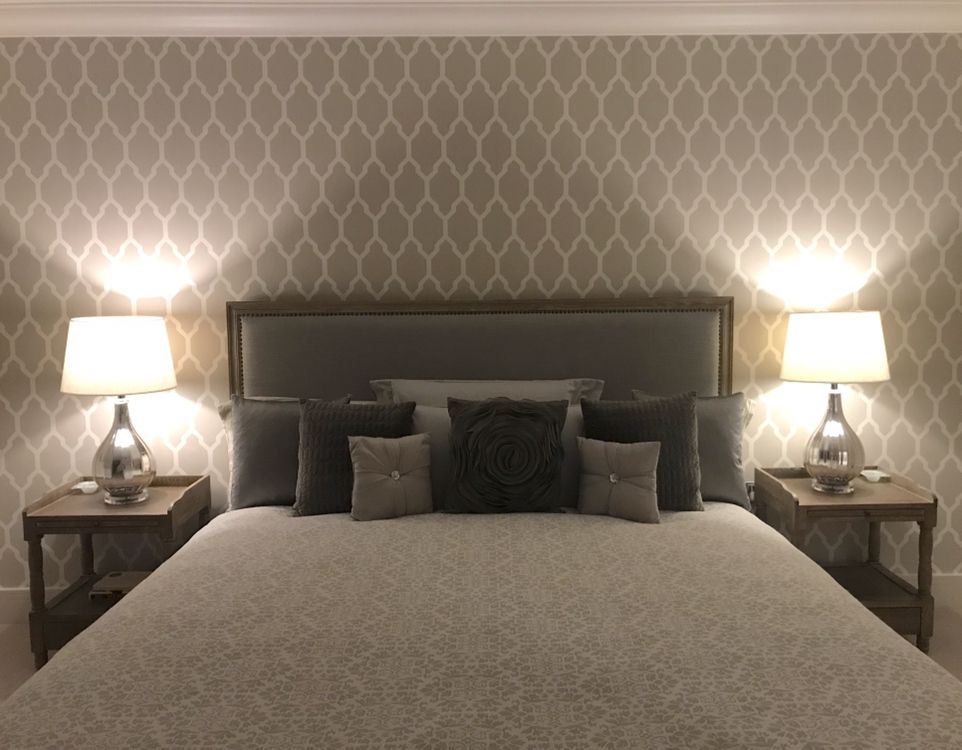 Farrow And Ball Wallpaper Tessella Bp 3601 And Brissi Bed Bed