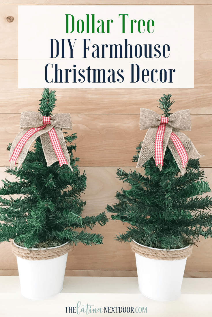 Farmhouse Christmas Decor Diy Dollar Tree
