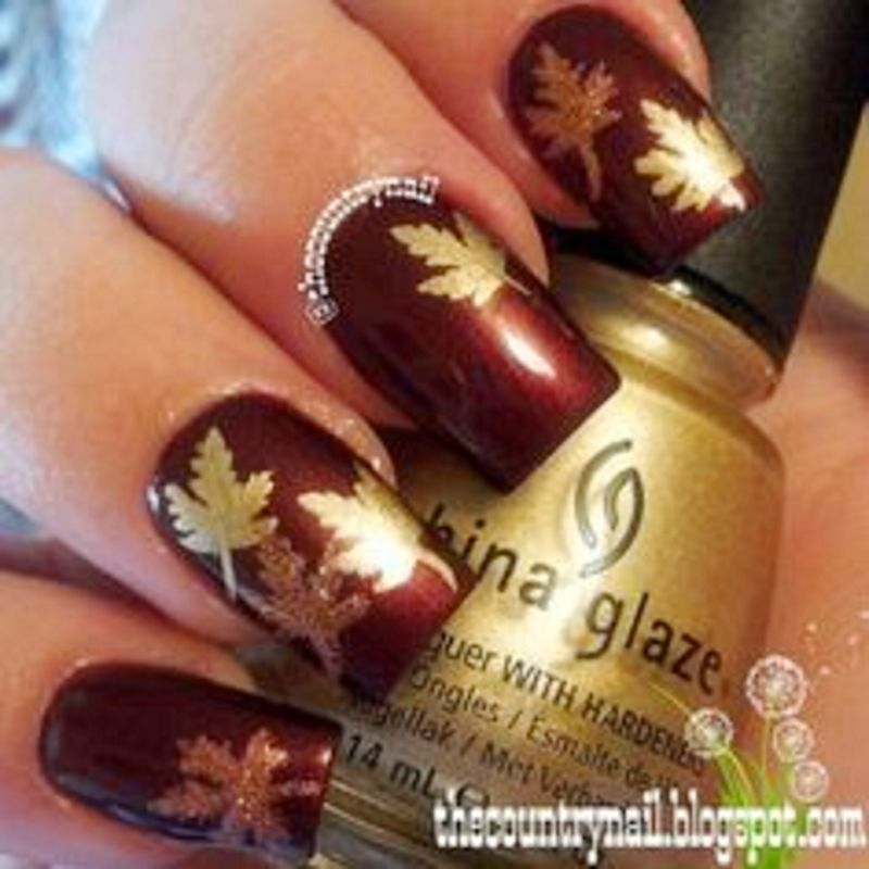 50 Eyecatching Fall Nail Designs For Thanksgiving Ideas Manicure