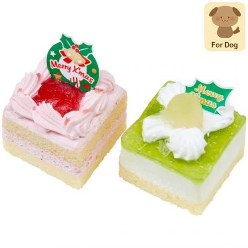 店舗受取予約商品 犬用ケーキ やさしいスイーツ クリスマスケーキ いちご メロン 2個入 イオンペット Aeon Pet 公式通販サイト ペット 用品 ペットフード販売専門店 クリスマスケーキ いちご ペットフード ドッグフード