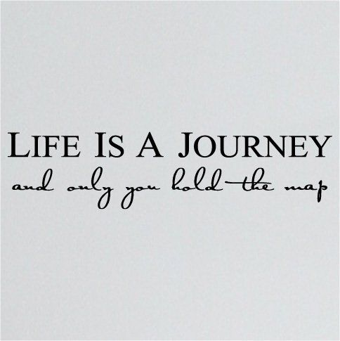 Life is a Journey and only you hold the map wall text
