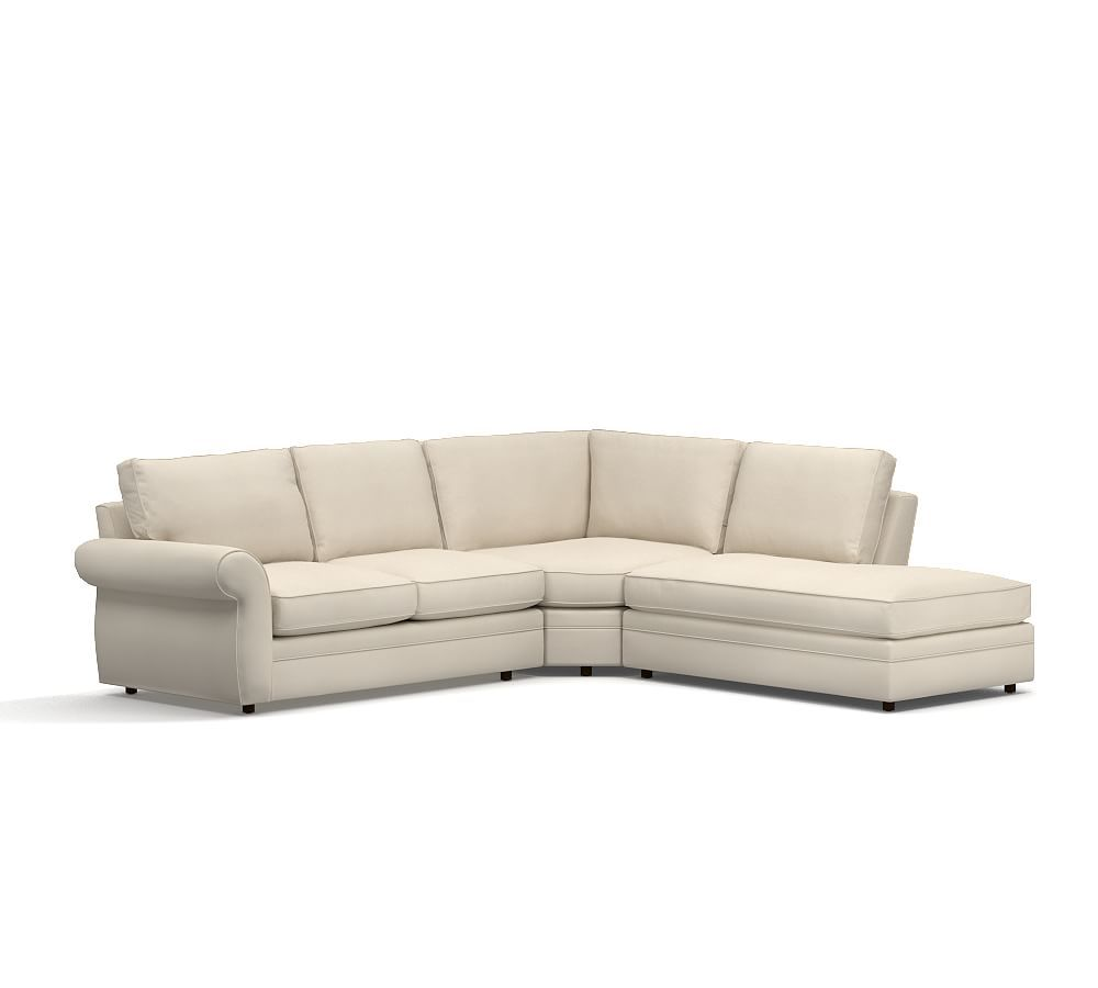 Pearce Upholstered Right 3-Piece Bumper Wedge Sectional
