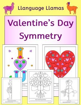 Valentines Day Symmetry No Prep Geometry Fun Products Symmetry