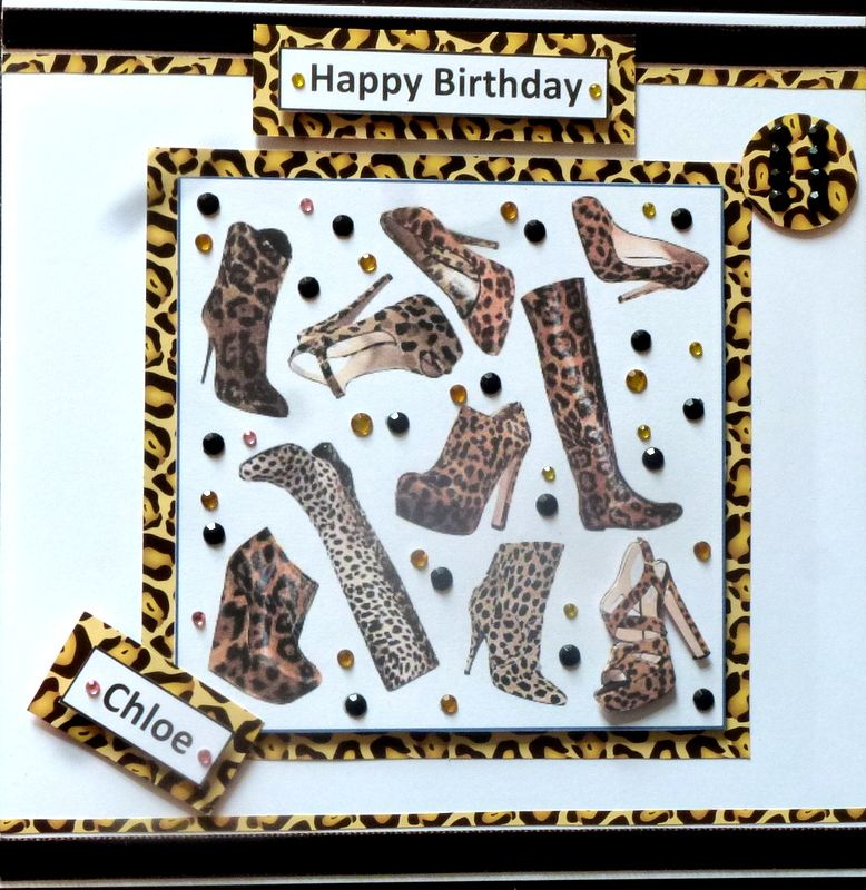 Made by Theresa Holland Leopard Print Birthday Card – Leopard Print Birthday Cards