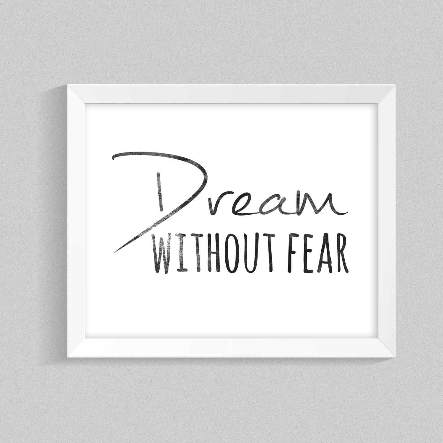Printable Wall Art For Living Room: Motivational Wall Art, Printable Quote, Black And White