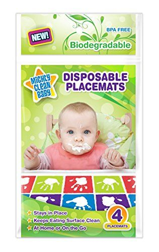 Mighty Clean Baby Disposable Placemats 24 Count 6 Packages Of 4 Placemats Mighty Clean Baby Http Www Amazon Com Baby Handprint Placemats Cute Baby Pictures