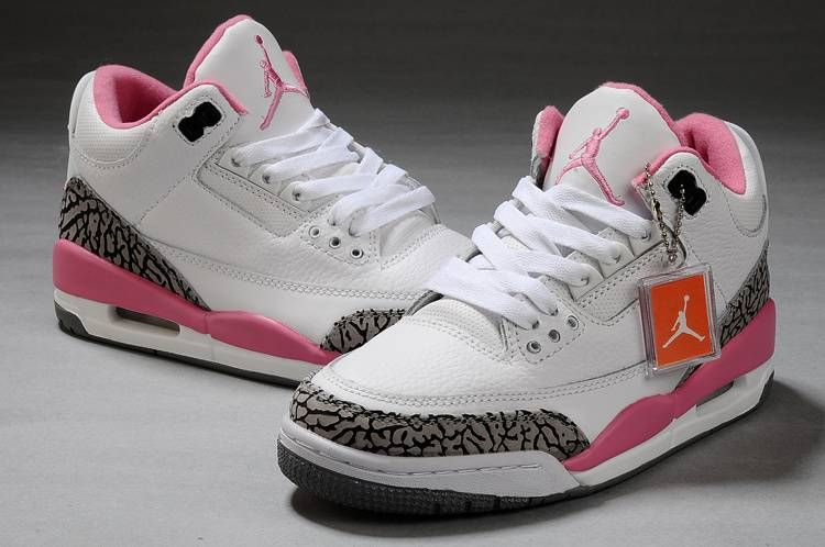 Air Jordan 3 Ciment Gris Rose Blanc magasin de vente YmnTH7ar
