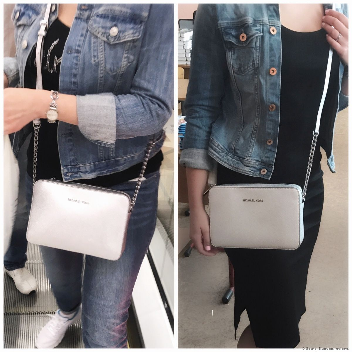 e6c184dee0c9 Michael Kors Jet Set Travel Large Metallic Leather Crossbody  Damenhandtaschen  Möchtet ihr euch eine coole