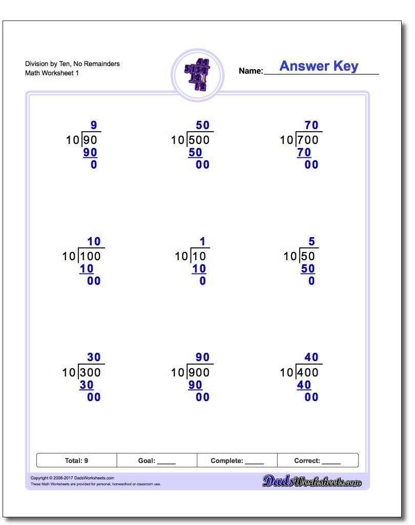 division worksheet by ten no remainders long division worksheet  division worksheet by ten no remainders long division worksheet