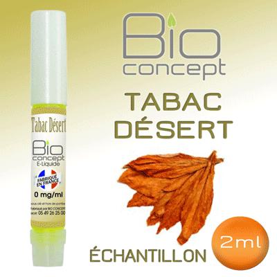 Echantillon e-liquide 2ml BIO CONCEPT TABAC DESERT