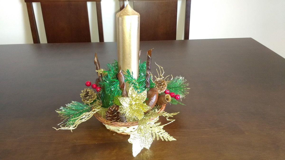 Arranjo De Natal De Vela Nº 4 Arranjos De Natal Natal Arranjos
