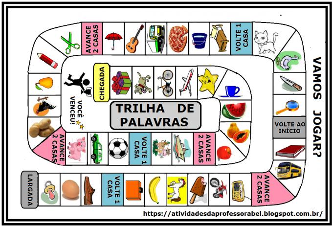 Jogo Trilha Das Palavras Para Imprimir Jogos De Alfabetizacao