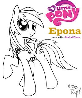 My Little Pony Coloring Pages Friendship Is Magic Epona