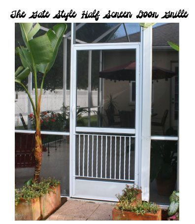 Sliding Screen Door Porch half screen door grille, gate style, simple, clean design made of