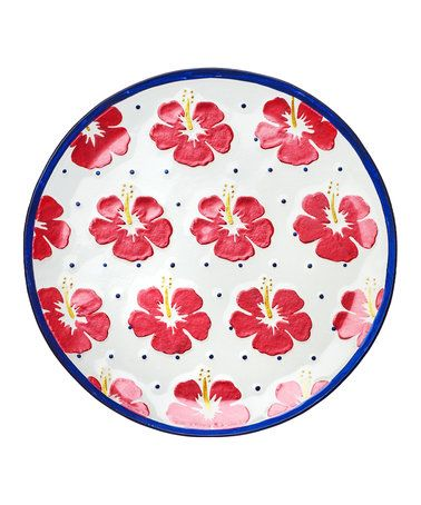 This 16'' Hibiscus Serving Platter is perfect! #zulilyfinds