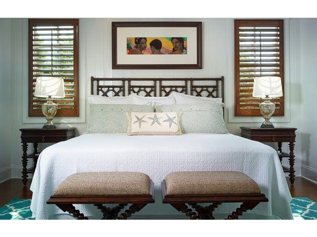 Naples Luxury Home Blog Coastal Tropical Guest Room Turquoise