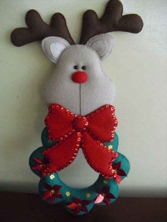 Manualidades en fieltro y mucho mas fieltro muchas y for Navidad adornos manualidades navidenas