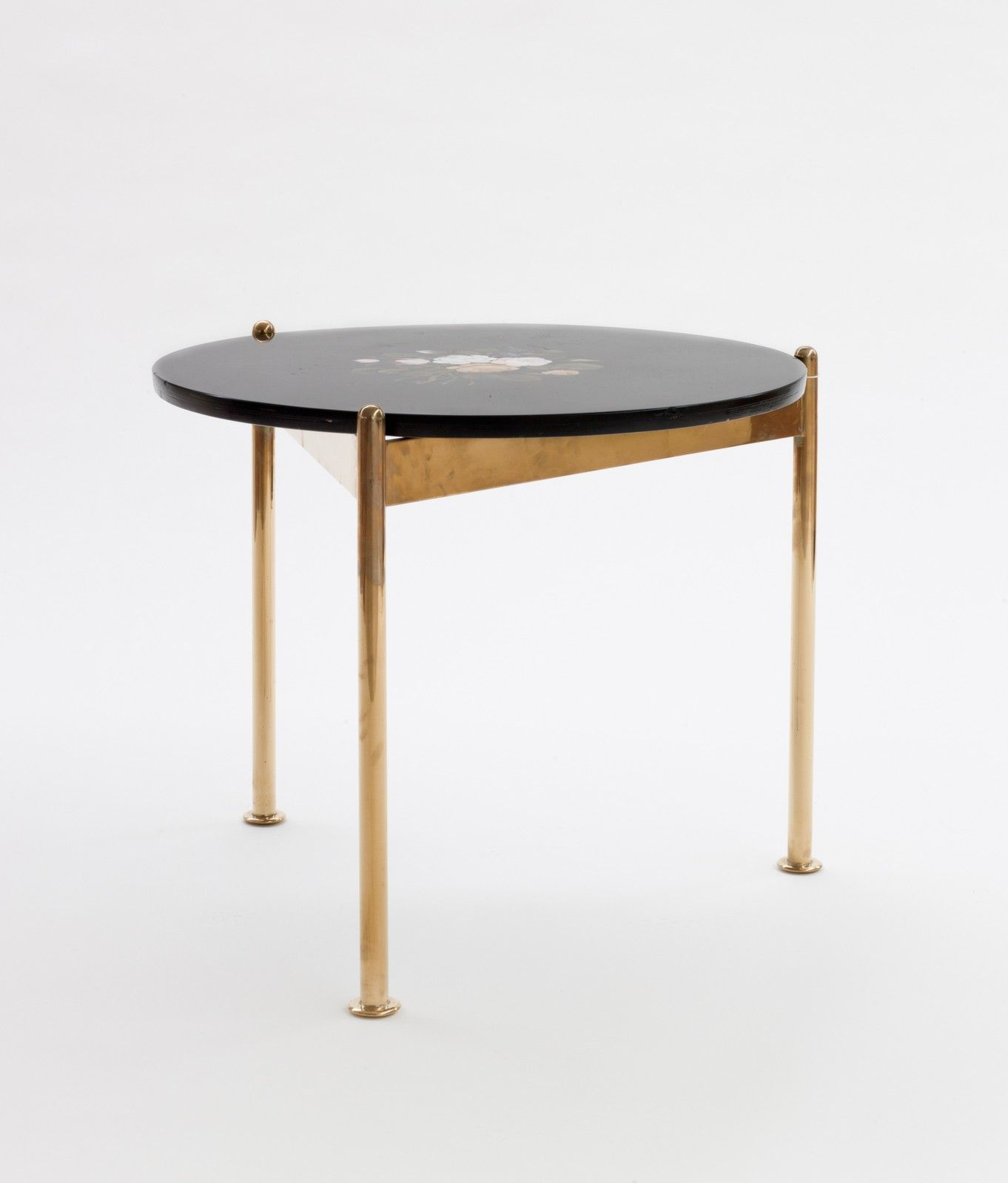 Alexander Girard Brass Marble and Hardstone Inlay Low Table for