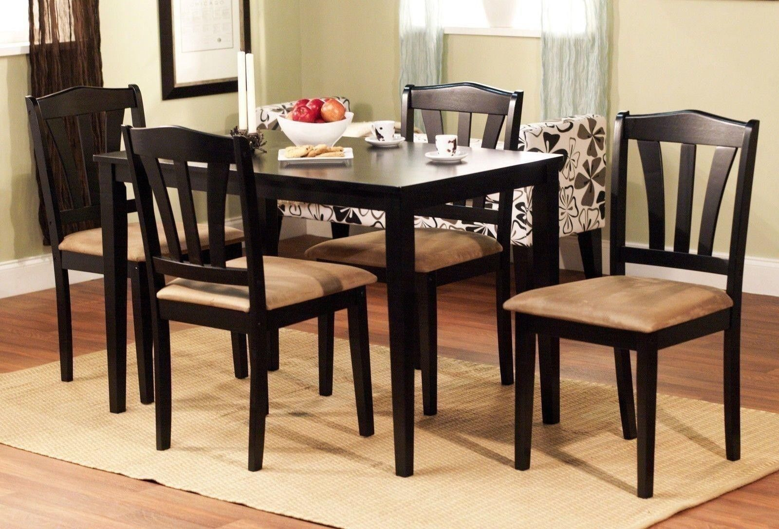 5 Piece Dining Set Wood Breakfast Furniture 4 Chairs And Table Extraordinary Square Dining Room Set 2018