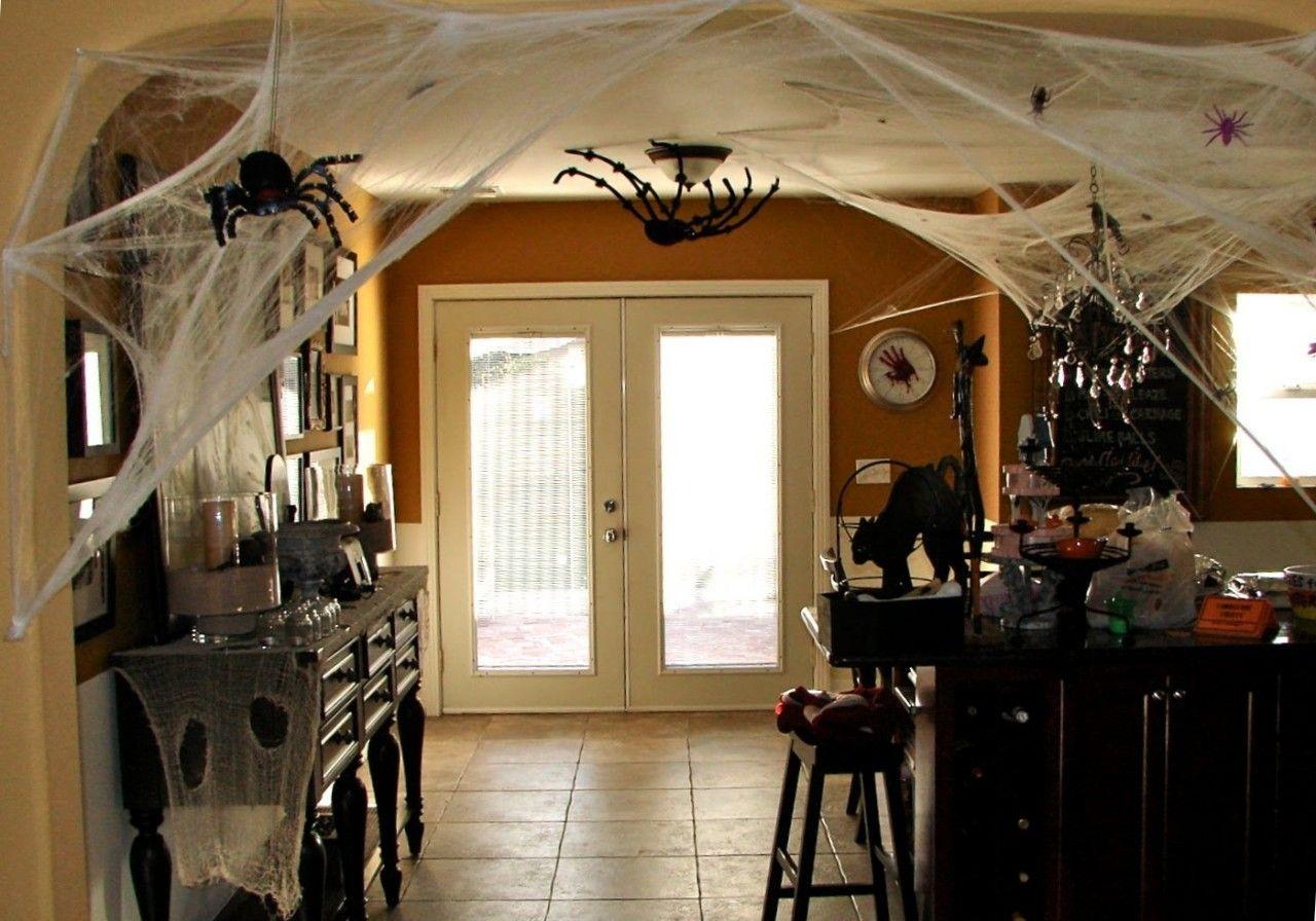 Furniture Indoor Halloween Decoration With Tarantula And