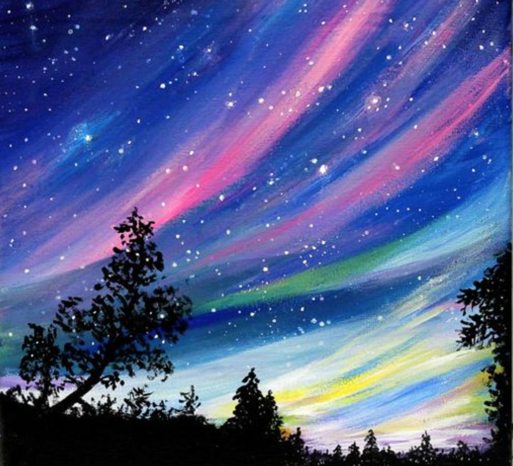 Starry Night Art Painting Canvas Painting Painting