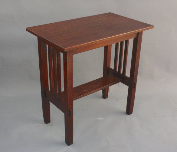 1910 Stickley Brothers Arts Crafts Side Table With Spindles