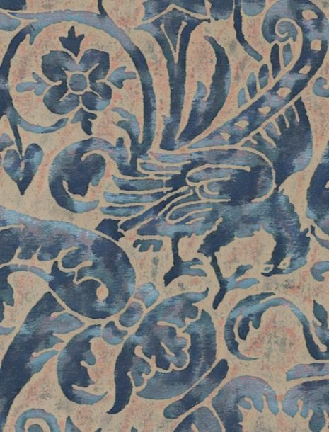 Uccelli in dark blue & beige