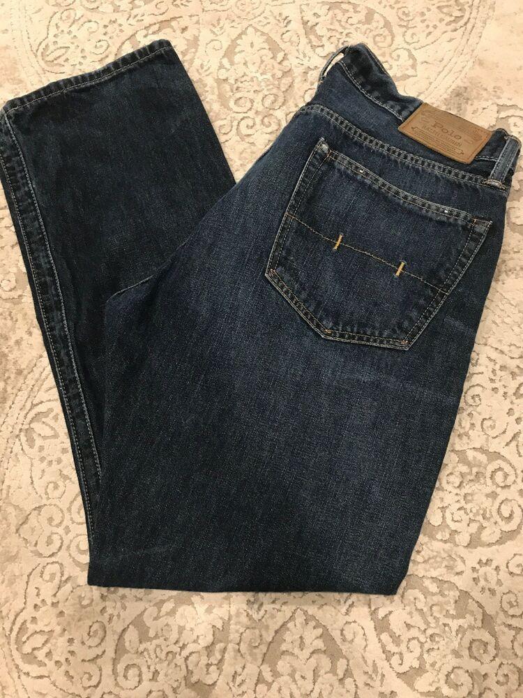 Polo Ralph Lauren Men Jeans Hampton Straight 33 X 30 Pre