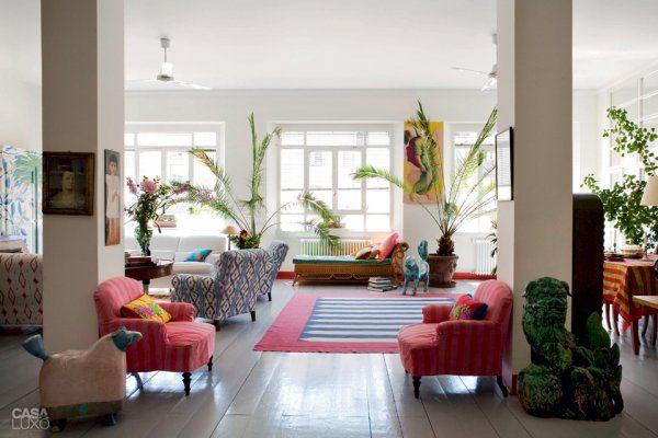 Visite d co un appartement au style exotique milan for Appartement deco recup