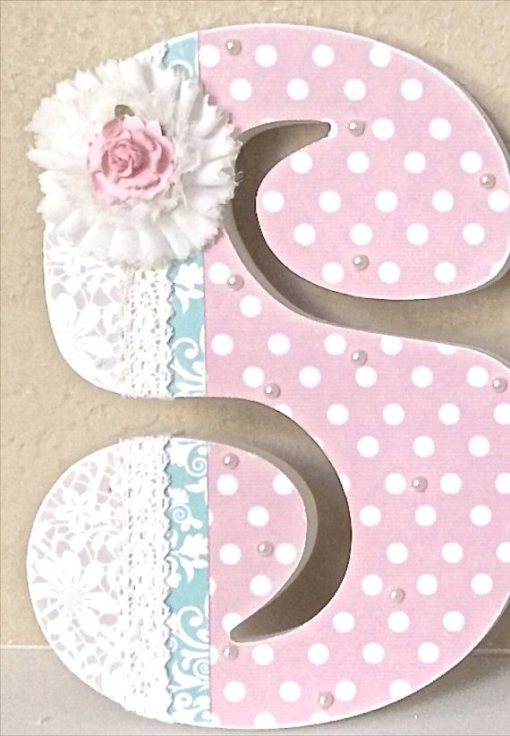 Custom Nursery Letters - Baby Girl Nursery Decor, Wooden Letters