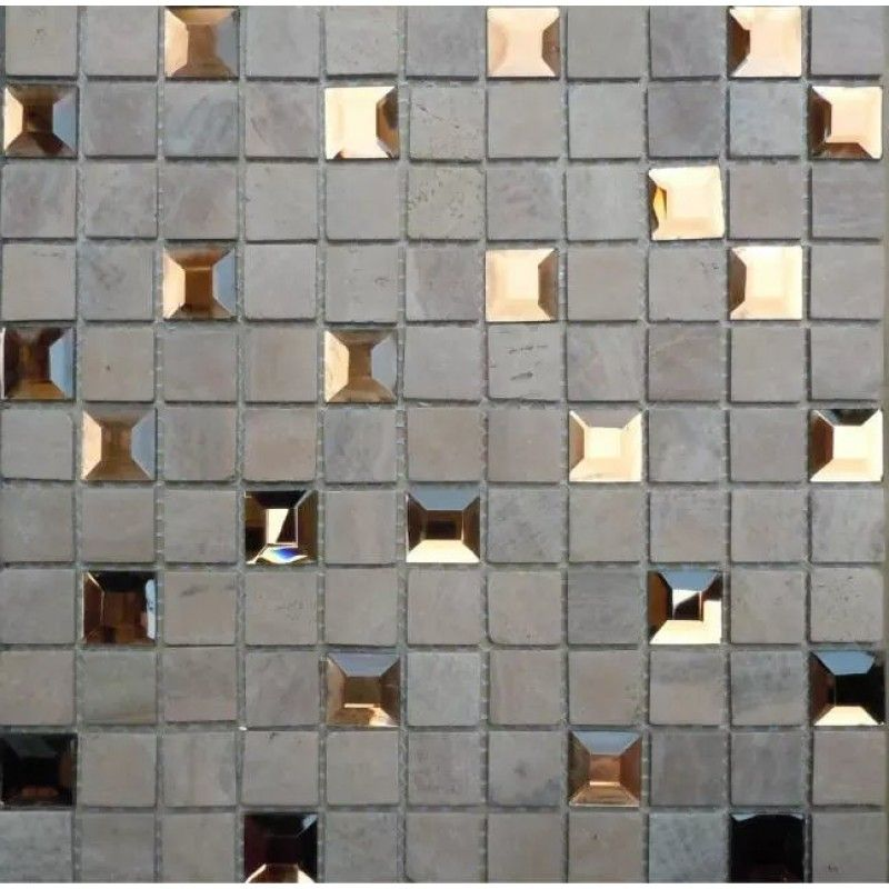 Mirror Mosaic Tiles Sheet Pyramid Patterns 1