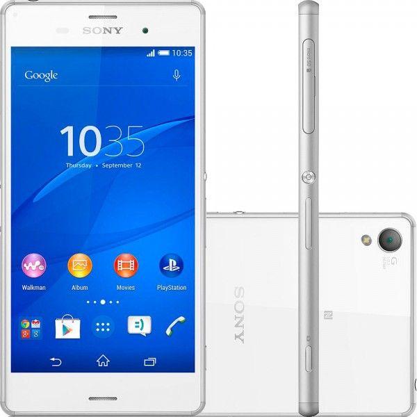 Smartphone Sony D6643 Xperia Z3 Tela 5.2″ 16GB 4G 20.7MP – Branco Por: R$ 1619,10