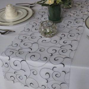 Silver Gray Table Runner