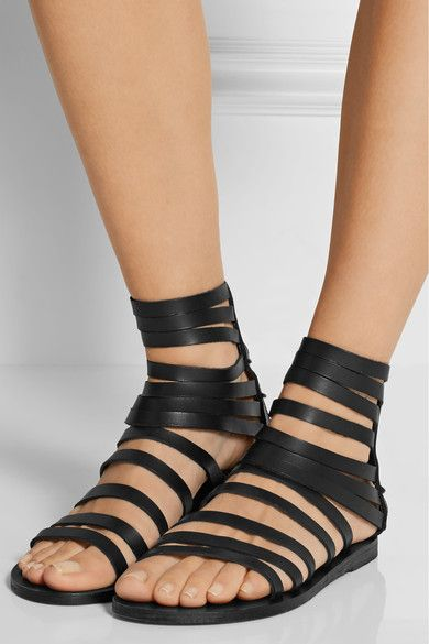52979e388c1edf ANCIENT GREEK SANDALS Galatia leather sandals Sole measures approximately  10mm  0.5 inches Black leather Ties at ankle