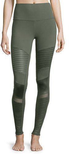 ee643ade6ae61 Shop for High-Waist Moto Sport Leggings with Mesh Panels by Alo Yoga at  ShopStyle. Now for Sold Out.