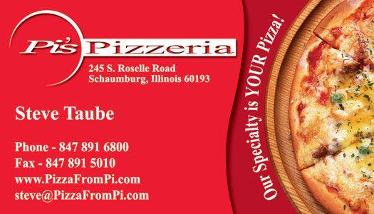 Pizza Business Cards Visit Carte De Visite